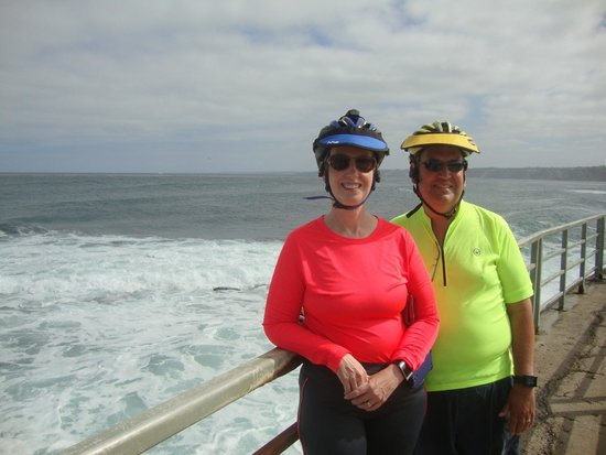 San Diego Fly Rides : On a break during our ride along the Pacific coast