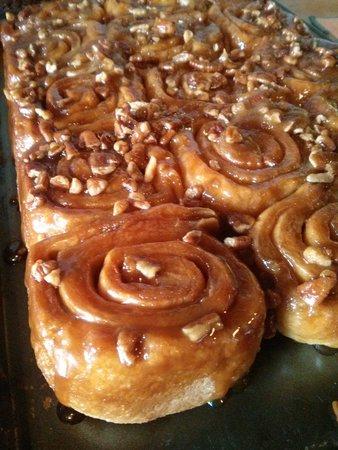 Magpie Café and Bakery: sticky buns, a Magpie cafe specialty
