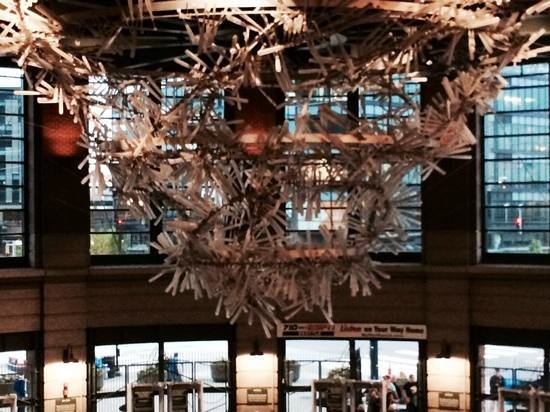 Safeco Field : spectacular chandelier made of recycled bats