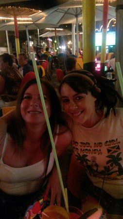 jamaica: Me with the lovely hard working waitress Belen