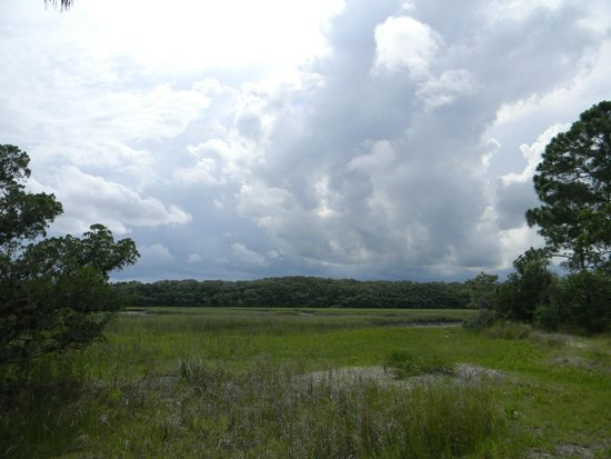 Little Talbot Island State Park: storm moving in over the ocean