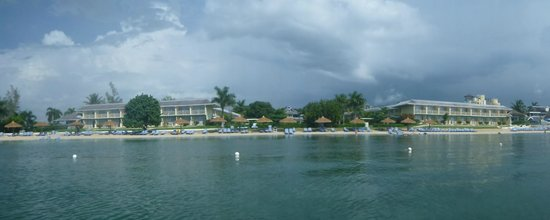 Sunscape Cove Montego Bay: View of the resort/main beach area from the water.