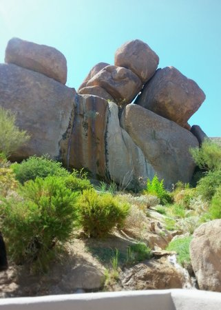 Boulders Resort & Spa, Curio Collection by Hilton: Rock waterfall at the main pool.