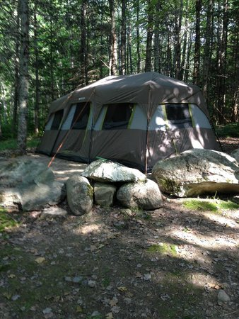 Bar Harbor Campground KOA: Our tent, site 625