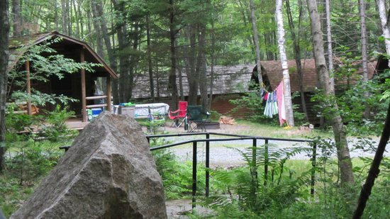 Bar Harbor Campground KOA: Kamping Cabins across from our site