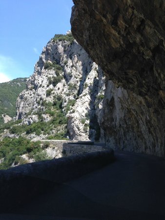 "Gorges de Galamus : the narrow ""S"" curves"