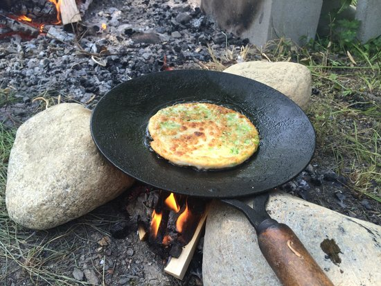 Searsport Shores Oceanfront Campground: Artist in residence-  Cooking with Fire -  Paula Marcoux