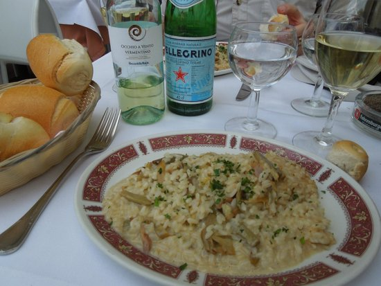 Il Bargello: Risotto with chciken and artichokes