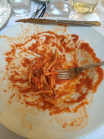 Lagana : Best. Red. Sauce. Ever. With BACON!