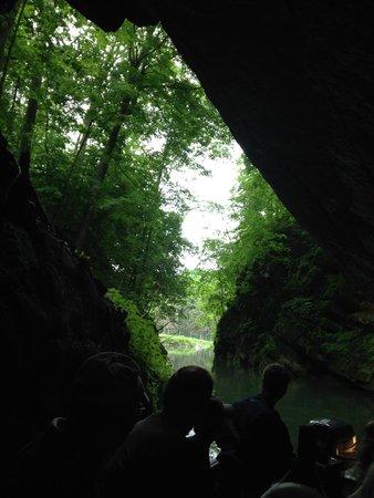 Penn's Cave & Wildlife Park: inside cave