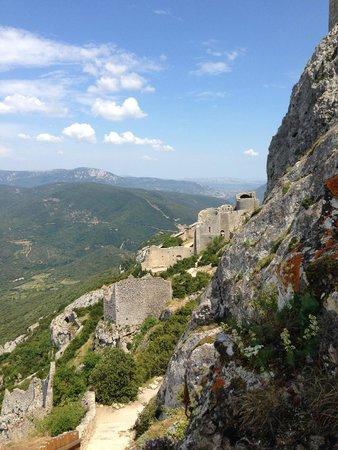 Château de Peyrepertuse : ho hum view (kidding!)
