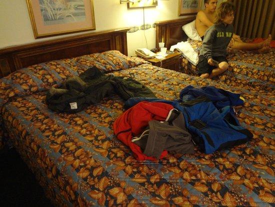 Breakers Motel: Las camas y colchones muy incomodas y chicas.