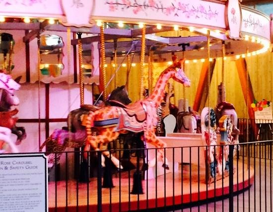 Butchart Gardens: the colorful carousel,with whimsical characters