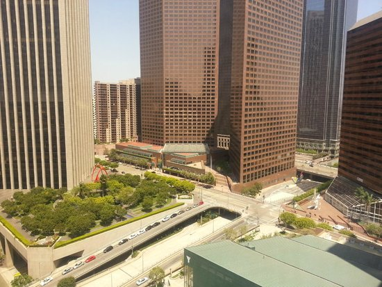 The Westin Bonaventure Hotel & Suites: Downtown view from the 29th floor