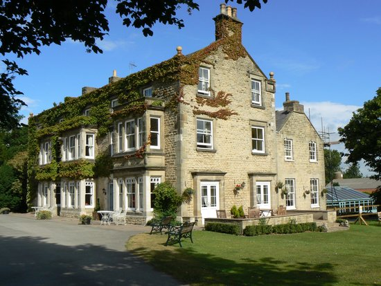 Burythorpe House. Newburgh room is at top with the side windows seen in the photo overlooking th