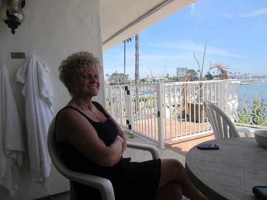 Oceanside Marina Suites: our veranda