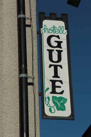 Hotel Gute: Skylt sedd från Kompanigränd