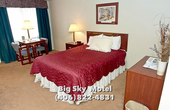 Big Sky Motel: Single Queen Bed Room