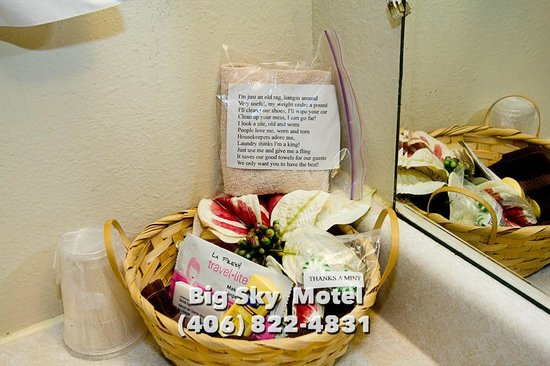 Big Sky Motel: Personal touches from us to you!