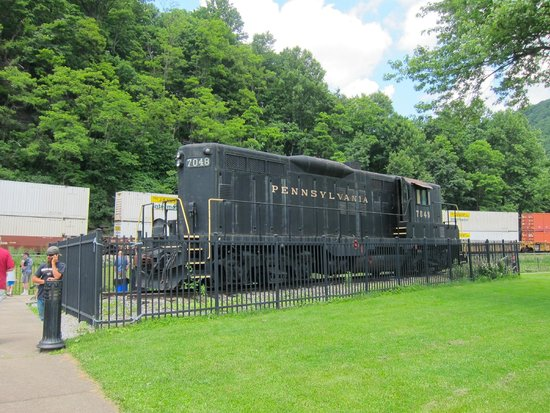 Horseshoe Curve National Historic Landmark: on top of the hill