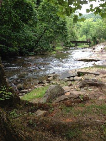 Mountain Springs Cabins: Beautiful stream