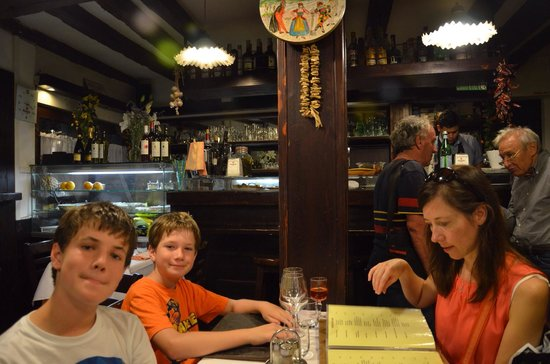 La Panocia D'Oro : Waiting for our dinner. The reception was warm and inviting. Will post an update once we've fini