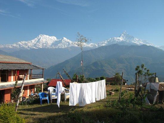 Annapurna Eco-Village: Вид на Аннапурны