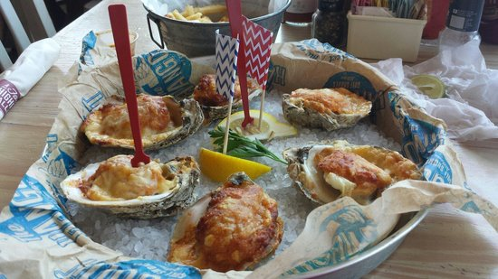 The Hangout : Baked stuffed oysters
