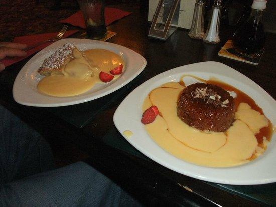 The Duke William: Apple pie & sticky toffee pud