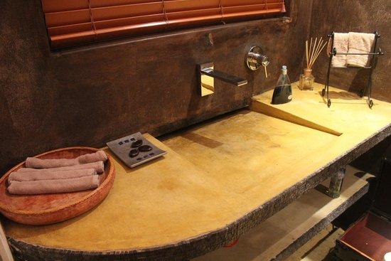 African Rock Hotel: Banheiro restaurante