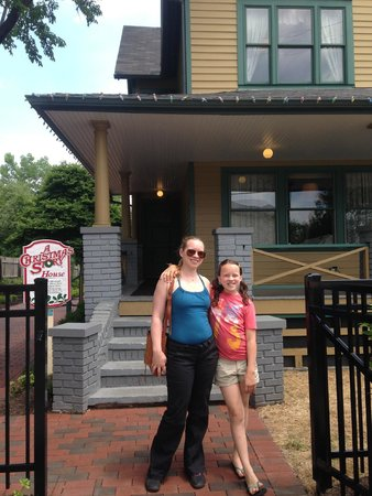 A Christmas Story House: in front of house