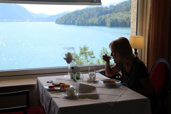 Schloss Fuschl Resort & Spa, Fuschlsee-Salzburg: View at breakfast