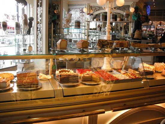 Cafe de Paris, some of the lovely cakes