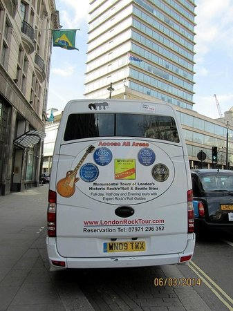 London Rock Music History Tours : gemütlicher, bequemer Bus