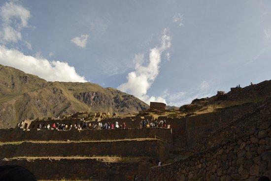 Archaeological Park Ollantaytambo: Topo do sítio arqueológico.