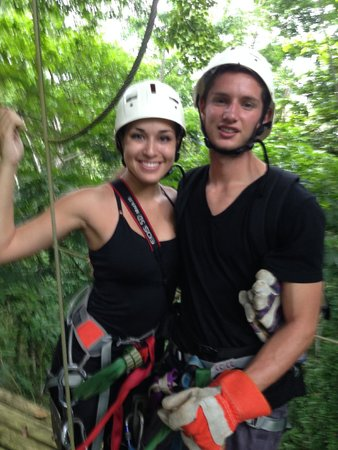 Almonds and Corals Hotel: Canopy tour!