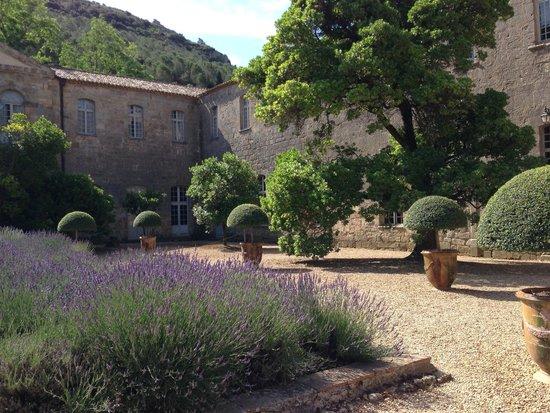 Abbaye de Fontfroide : the lavender courtyard