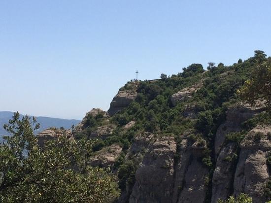 Explore Catalunya: cross in Monserrat