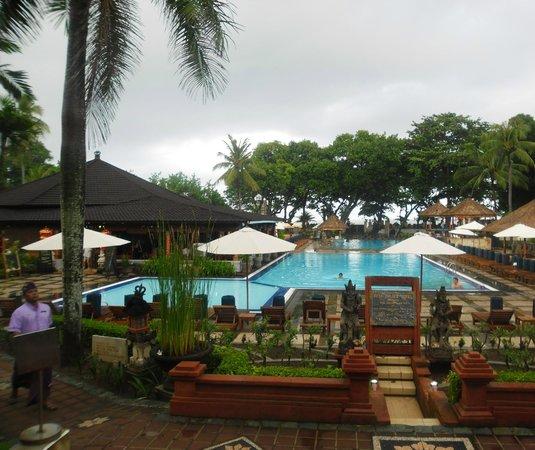 The Jayakarta Bali Beach Resort: view from the foyer of hotel