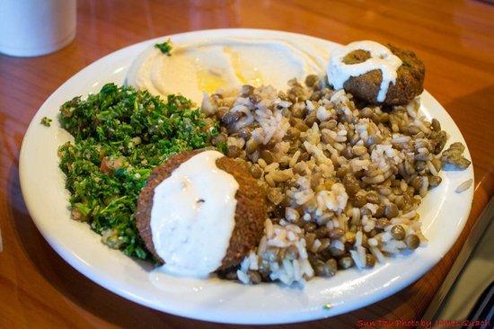 Mediterranean Cuisine: Veggie platter