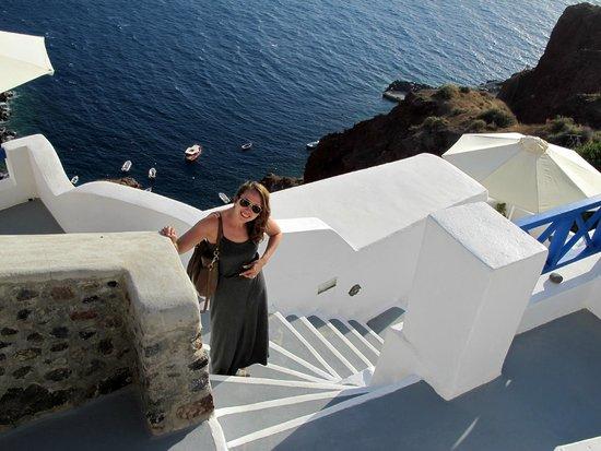 Esperas : Steps below the hotel