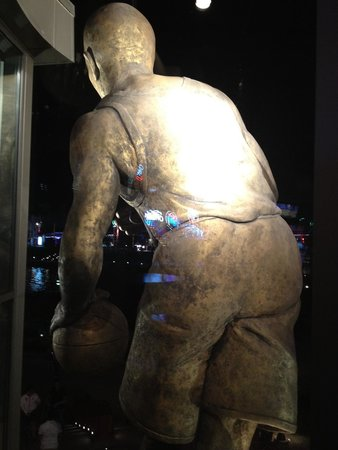 The backside of the big boy outside NBA City, CityWalk, Orlando FL. This view is from one of the