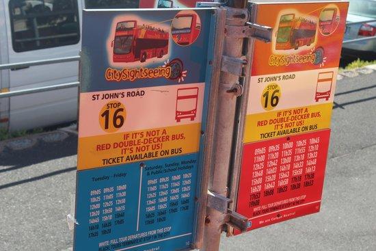 City Sightseeing: Placas indicativas