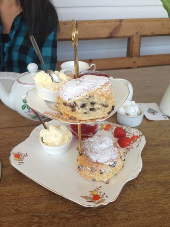 Southwold Boating Lake and Cafe: Fruit scone as part of the afternoon tea
