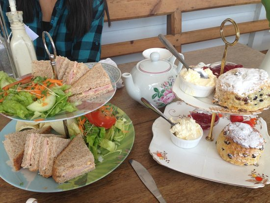 Southwold Boating Lake and Cafe: Afternoon tea sandwich, scone& pot of tea £9.95
