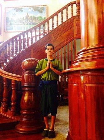 Borei Angkor Resort & Spa: the Borei staff in period uniform.