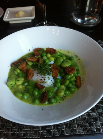 Colicchio & Sons: Farm Egg, Summer Vegetable Ragout & Fried Bread
