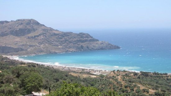 Taverna Panorama: Baie de Plakias vue de Mirthios
