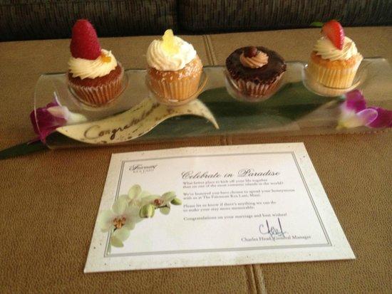 Fairmont Kea Lani, Maui: Honeymoon surprise from the Fairmont Kea Lani staff!