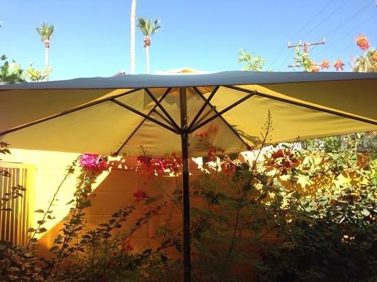 Avanti Hotel : Our private back patio.